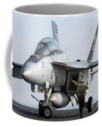 An Fa-18f Super Hornet During Flight Coffee Mug