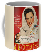 Chesterfield Cigarette Ad Coffee Mug