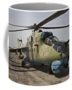 An Mi-35 Attack Helicopter At Kunduz Coffee Mug