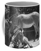 Zebras In Black And White Coffee Mug