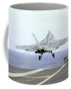 An Fa-18e Super Hornet Launches Coffee Mug