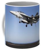 An Fa-18f Super Hornet During Flight Coffee Mug