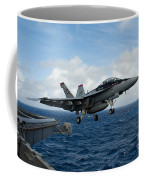 An Fa-18f Super Hornet Launches Coffee Mug