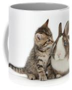 Kitten And Rabbit Coffee Mug
