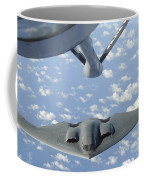 A B-2 Spirit Approaches The Refueling Coffee Mug by Stocktrek Images