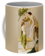 A Basket Of Roses - Grecian Girls Coffee Mug by Henry Thomas Schaefer