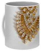 A Beautiful Gold And Diamond Pendant On A White Background Coffee Mug