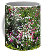 A Bed Of Beautiful Different Color Flowers Coffee Mug
