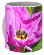 A Bee In A Rose Brpwc Coffee Mug