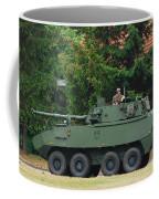 A Belgian Army Piranha IIic Coffee Mug