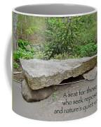 A Bench For Those Who Seek Repose Coffee Mug