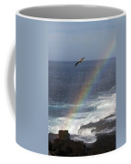 A Blue Footed Booby Soars Coffee Mug by Ralph Lee Hopkins