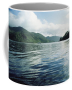 A Boat Plies The Gentle Waters Coffee Mug by Bill Curtsinger