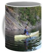 A Boy Kayaking Coffee Mug