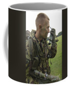 A British Army Soldier Radios Coffee Mug by Andrew Chittock