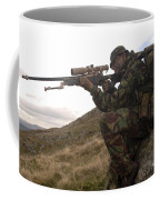 A British Soldier Armed With A Sniper Coffee Mug