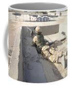 A British Soldier Provides Security Coffee Mug by Andrew Chittock
