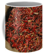 A Burlap Bag Full Of Red Hot Peppers Coffee Mug by James P. Blair