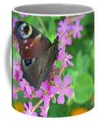 A Butterfly On The Pink Flower 2 Coffee Mug