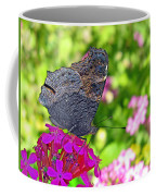 A Butterfly On The Pink Flower Coffee Mug