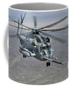 A Ch-53e Super Stallion Approaches Coffee Mug