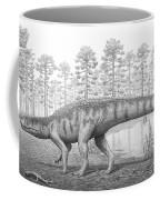 A Chirotherium Roams A Prehistoric Era Coffee Mug