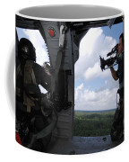 A Cinematographer Videotapes A Soldier Coffee Mug