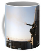 A Close-in Weapons System Fires A Burst Coffee Mug