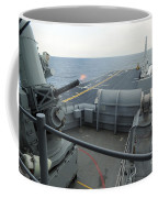 A Close-in Weapons System Fires Aboard Coffee Mug