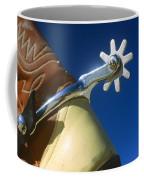 A Close-up Of A Shiny Silver Spur Coffee Mug