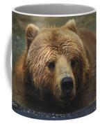 A Close View Of A Captive Kodiak Bear Coffee Mug by Tim Laman