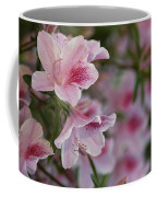 A Close View Of Pink Azalea Blossoms Coffee Mug