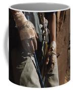 A Close View Of Rock Climber Becky Coffee Mug