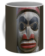 A Close View Of The Carvings Of A Totem Coffee Mug by Taylor S. Kennedy