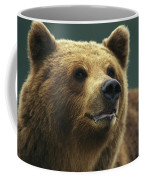 A Close View Of The Face Of A Brown Coffee Mug