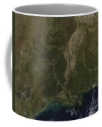A Cloud-free View Of The Southern Coffee Mug by Stocktrek Images