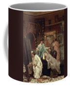 A Collector Of Pictures At The Time Of Augustus Coffee Mug by Sir Lawrence Alma-Tadema