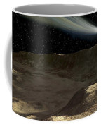 A Comet Passes Over The Surface Coffee Mug by Ron Miller