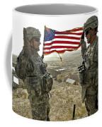 A Commander Re-enlists Master Sergeant Coffee Mug