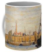 A Continental Harbor Coffee Mug by William Lionel Wyllie