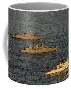 A Convoy Of Naval Ships Move Coffee Mug