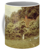 A Cottage At Farringford Isle Of Wight Coffee Mug by Helen Allingham