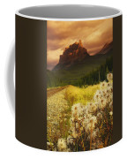 A Country Road With A Mountain In The Coffee Mug