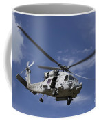 A Crew Chief Looks Out The Side Door Coffee Mug by Michael Wood
