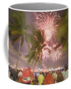 A Crowd Gathered On New Years Eve Coffee Mug by Mike Theiss