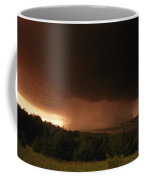 A Dark Cloud With Heavy Rain Moves Coffee Mug