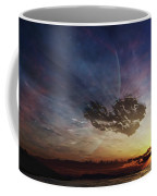 A Despairing Man Sits On The Beach Coffee Mug