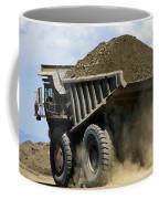 A Dump Truck Carrying Gravel Kicks Coffee Mug