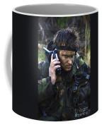 A Dutch Patrol Commander Communicates Coffee Mug