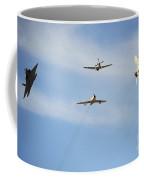 A F-22 Raptor, F-86 Sabre, P-51 Mustang Coffee Mug